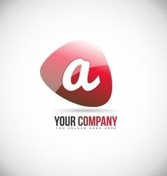 Alphabet letter small a logo icon design vector