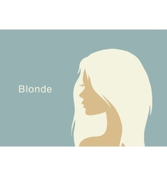 blonde girl in profile vector image