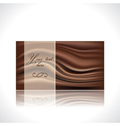 chocolate card vector image