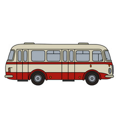 Classic city bus vector