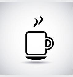 Delicious coffee drink fresh icon vector