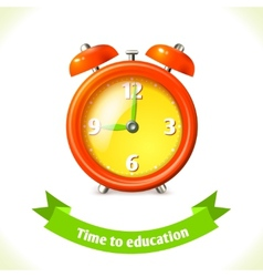 Education icon alarm clock vector image