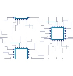 Electronic circuit seamless background vector image vector image
