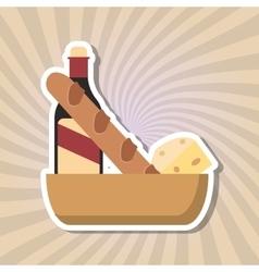 Icon design of bakery vector