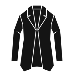 Jacket icon simple style vector