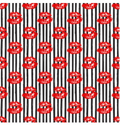 Kiss lips seamless pattern background isolated on vector