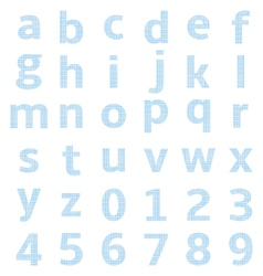 lowercase alphabet graph paper vector image vector image