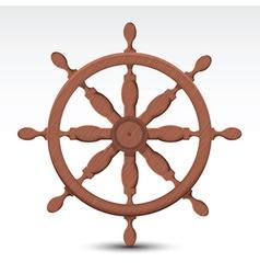 Nautical wheel vector