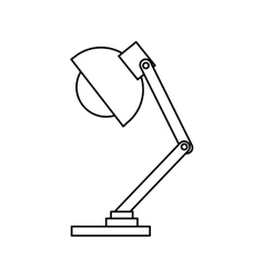 office lamp isolated icon vector image vector image