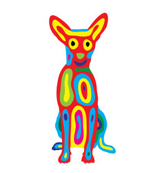 Rainbow dog 5 vector