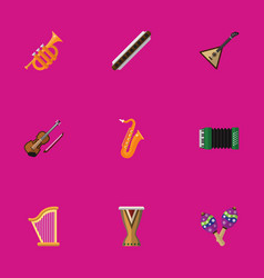 Set of 9 editable multimedia flat icons includes vector