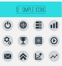 Set of simple entrepreneurship vector