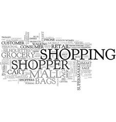 Shopper word cloud concept vector