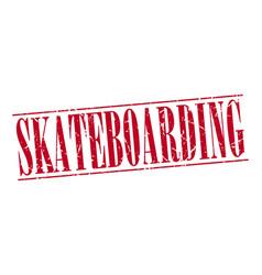 Skateboarding red grunge vintage stamp isolated vector