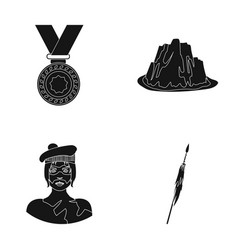 Sports history and or web icon in black style vector