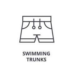 swimming trunks line icon outline sign linear vector image vector image