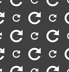 Update sign icon full rotation arrow symbol vector