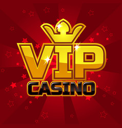 Vip poker luxury casino logo concept vector