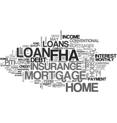 what is fha loan text word cloud concept vector image vector image