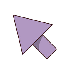 White background with purple arrowhead with black vector