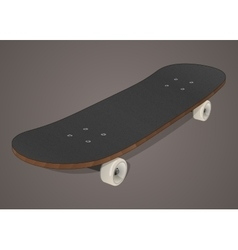 Stylized skateboard vector