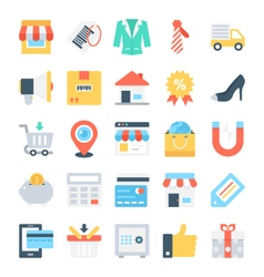 Shopping and e-commerce icons 5 vector