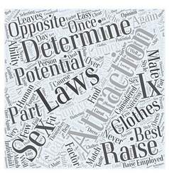 Laws of Attraction Word Cloud Concept vector image