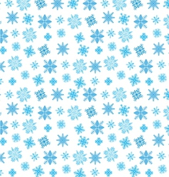 Blue snowflakes on white vector