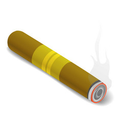 Cigar icon isometric 3d style vector