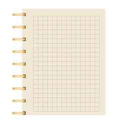 Realistic blank spiral notepad element vector