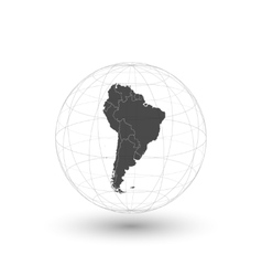 South America map background vector image