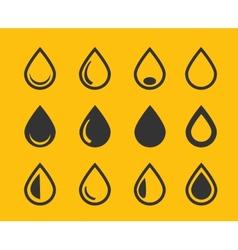 Drop icons set vector image