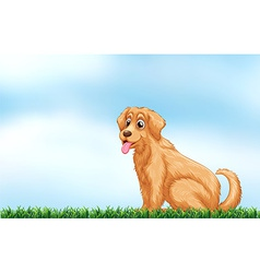 A cute dog vector