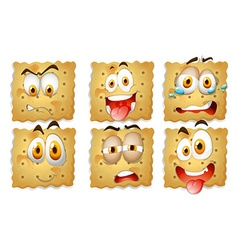 Crackers with facial expressions vector