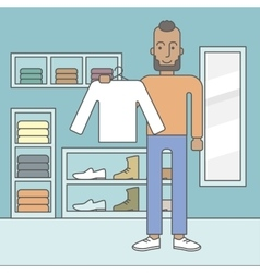 Man in clothing store vector