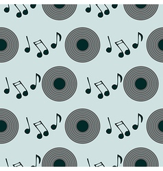 Retro background with music plate vector