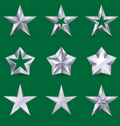 set of different stars icons vector image