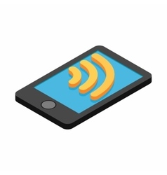 Wi-fi internet connection on a smartphone vector
