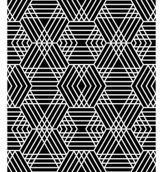 Seamless diamonds and hexagons pattern vector