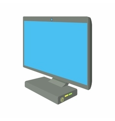 Desktop computer icon cartoon style vector