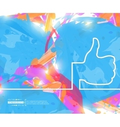 Creative thumbs up art vector