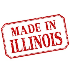 Illinois - made in red vintage isolated label vector