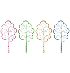Trees pictograms vector
