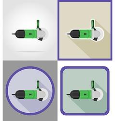 Electric repair tools flat icons 06 vector