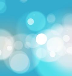 Abstract bokeh light blue background vector