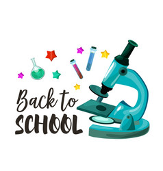 back to school chemistry lesson poster vector image vector image