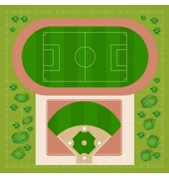 Baseball stadiums vector