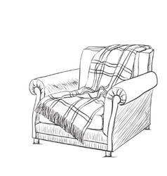 Chair sketch style vector image