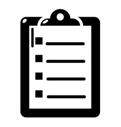 check list icon simple black style vector image vector image