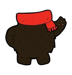 Comic cartoon black bear body mix and match or add vector